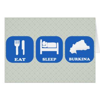 Eat Sleep Burkina Cards