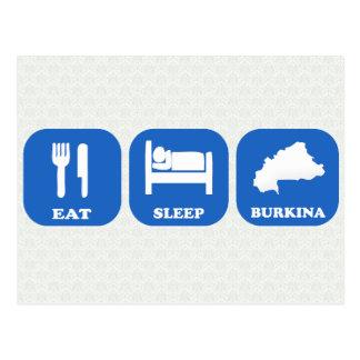 Eat Sleep Burkina Postcards