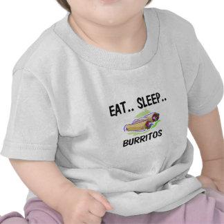 Eat Sleep BURRITOS Shirts