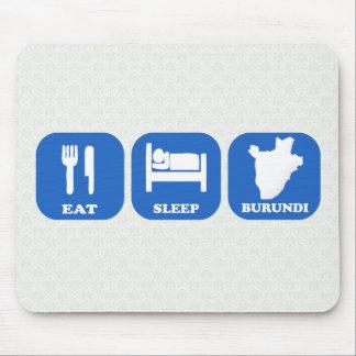 Eat Sleep Burundi Mousepads