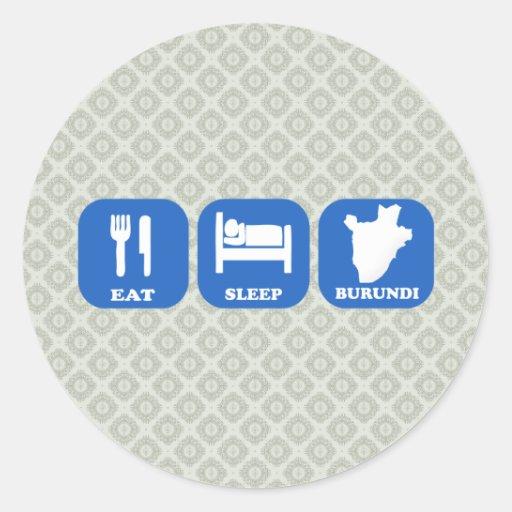 Eat Sleep Burundi Stickers
