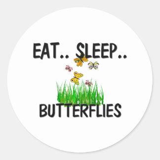 Eat Sleep BUTTERFLIES Sticker