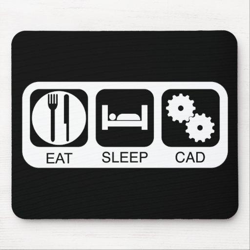 Eat Sleep CAD Mouse Mats