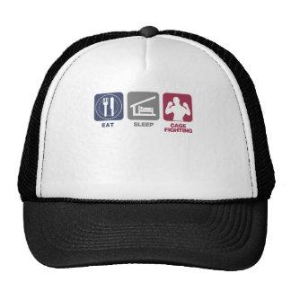 Eat Sleep Cage Fighting Trucker Hat