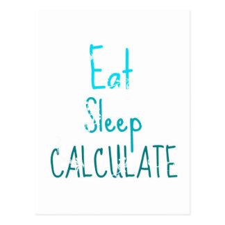 Eat Sleep Calculate Postcard