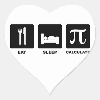 Eat Sleep Calculate Stickers