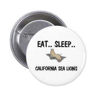 Eat Sleep CALIFORNIA SEA LIONS Button