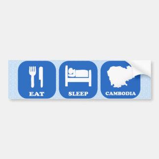 Eat Sleep Cambodia Bumper Sticker