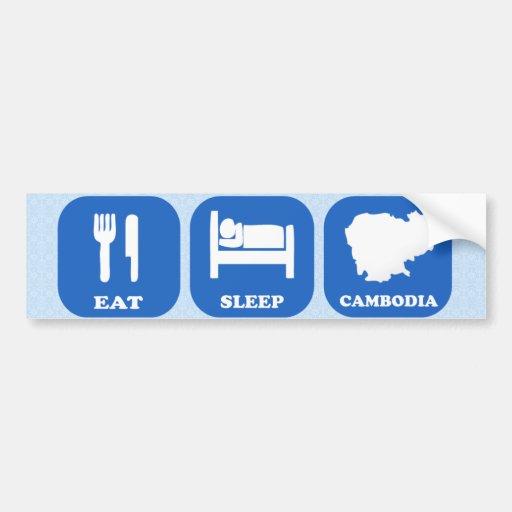Eat Sleep Cambodia Car Bumper Sticker