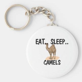 Eat Sleep CAMELS Basic Round Button Keychain