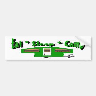 Eat Sleep Camp Car Bumper Sticker