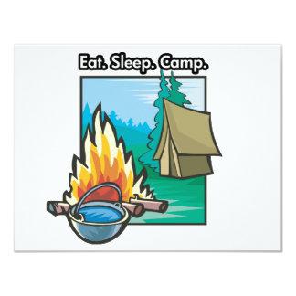 Eat, Sleep, Camp Card