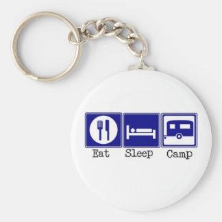 Eat, Sleep, Camp Key Chain