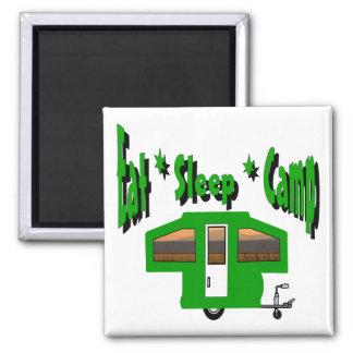 Eat Sleep Camp Magnet