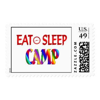 Eat Sleep Camp Postage