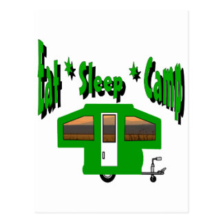 Eat Sleep Camp Postcard