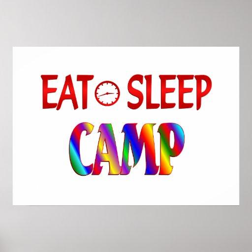 Eat Sleep Camp Poster