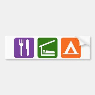 Eat Sleep Camping Bumper Sticker