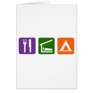 Eat Sleep Camping Card