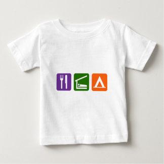 Eat Sleep Camping Infant T-shirt