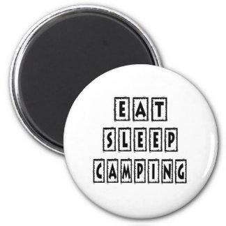 Eat Sleep Camping Magnets