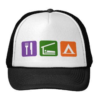 Eat Sleep Camping Trucker Hat