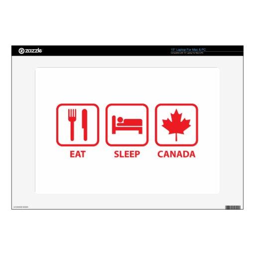 Eat Sleep Canada Laptop Decal