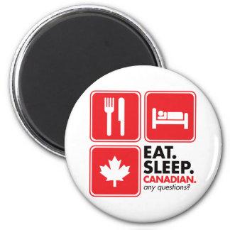 Eat Sleep Canadian Refrigerator Magnet