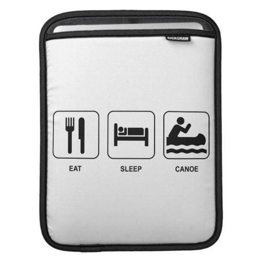 Eat Sleep Canoe iPad Sleeve