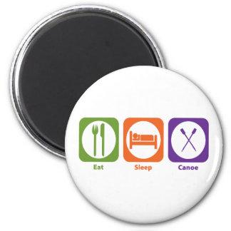 Eat Sleep Canoe 2 Inch Round Magnet