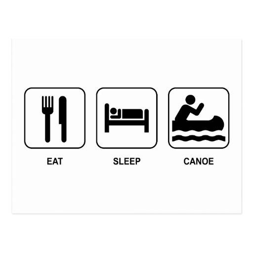 Eat Sleep Canoe Postcard
