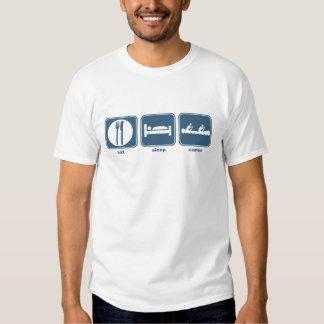 eat sleep canoe t shirt