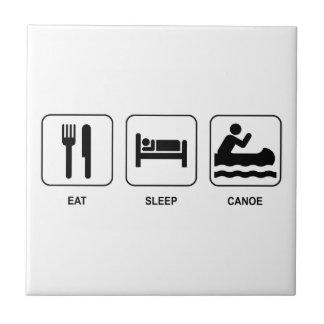 Eat Sleep Canoe Tile
