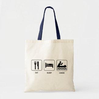 Eat Sleep Canoe Tote Bag