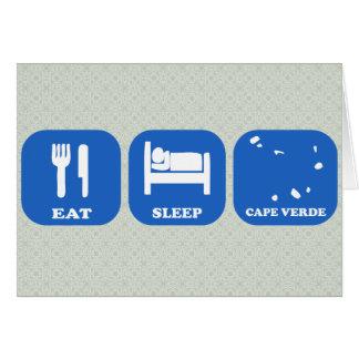 Eat Sleep Cape Verde Greeting Card