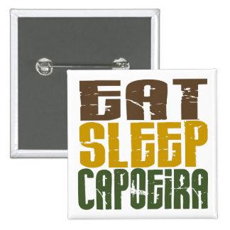 Eat Sleep Capoeira 1 2 Inch Square Button