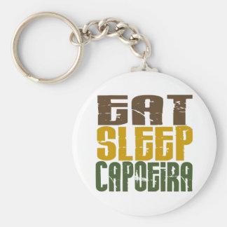 Eat Sleep Capoeira 1 Basic Round Button Keychain