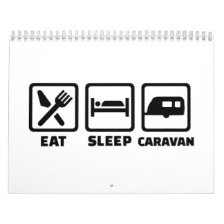 Eat sleep caravan calendar