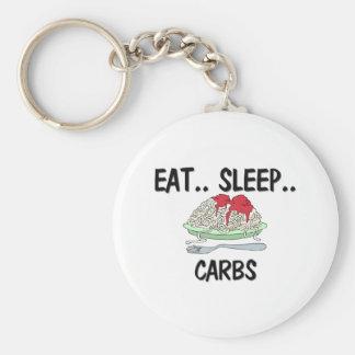 Eat Sleep CARBS Keychain