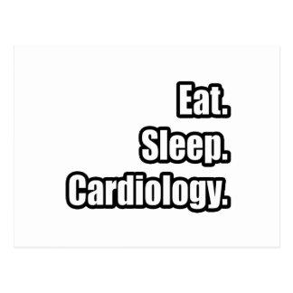 Eat. Sleep. Cardiology. Postcard