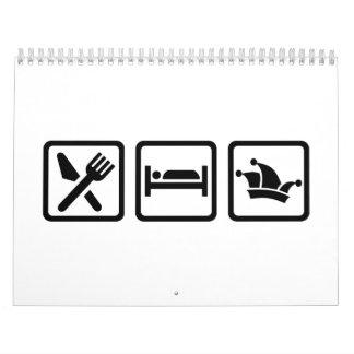 Eat sleep carnival calendar