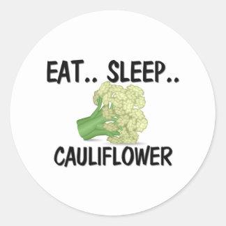 Eat Sleep CAULIFLOWER Sticker
