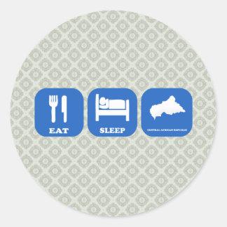 Eat Sleep Central African Republic Sticker