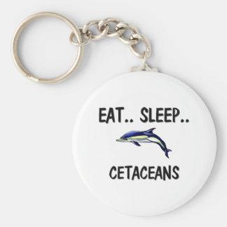 Eat Sleep CETACEANS Keychains
