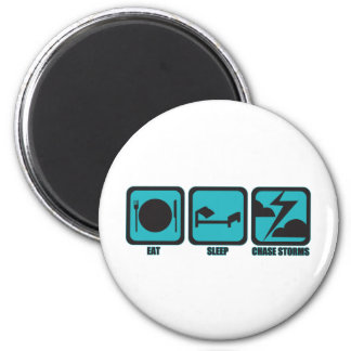 Eat Sleep Chase Storms 2 Inch Round Magnet