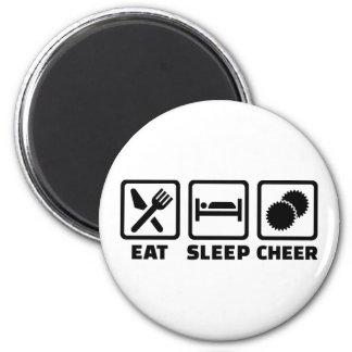 Eat sleep cheer 2 inch round magnet