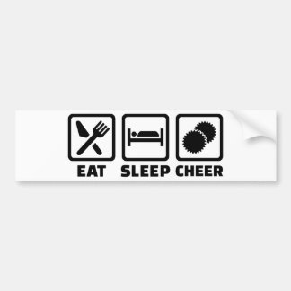 Eat sleep cheer bumper sticker