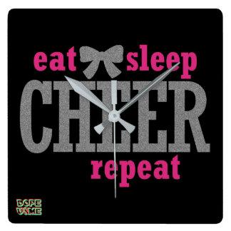 Eat Sleep Cheer Clock