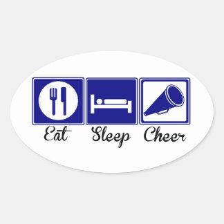 Eat, Sleep, Cheer Oval Sticker