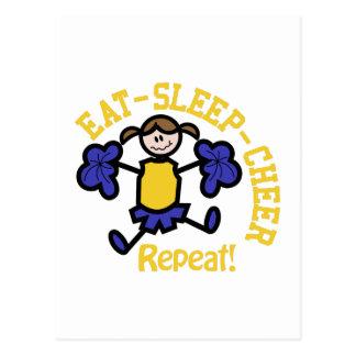 Eat Sleep Cheer Postcard
